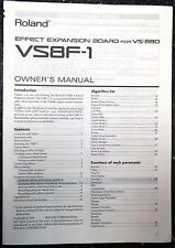 Roland VS8F-1 Effect Expansion Board for VS-880 - Original Operating MANUAL ONLY