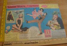 Lana Turner Carmen Miranda Seein' Stars Feg Murray Sunday 1940s color panel 7d