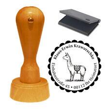 Stempel « süßes LAMA » Adressenstempel Motiv Name Adresse Lamas Kamel Tiere Zoo