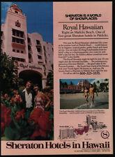 1977 SHERATON Royal Hawaiian Waikiki Beach Hawaii Pink Hotel - VINTAGE AD