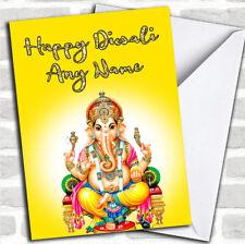Lord Ganesh Yellow Customized Diwali Greetings Card