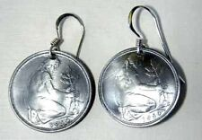 Coin Jewelry-German-Woman planting earrings