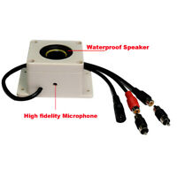 3Piece Outdoor Audio Speaker with Microphone - for Security IP Camera