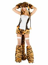 J Valentine SABRE TOOTH  FURRY Animal Costume NOS Sz SMALL RAVE DRESS ONLY