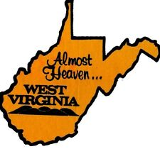 new vinyl almost heaven west virginia decal 3x5