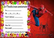 5 cartes invitation anniversaire  Spiderman 03