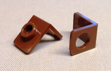 x2 NEW Lego Brown Minifig Neck Bracket w/ Back Stud For Minifigs REDDISH BROWN