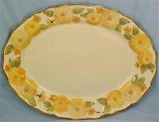 Metlox Poppytrail Sculptured Zinnia Platter Serving Oval Meat Pottery Vintage