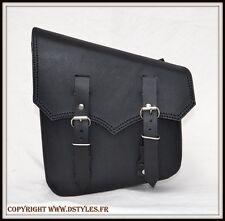 sac a outils latérale pour cadre rigide Noir Ciselé { softail shadow intruder }