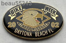 2002  DAYTONA FLORIDA BIKE WEEK ENAMEL JACKET VEST HAT TAC PIN