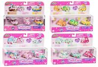 SHOPKINS CUTIE CARS 3 PACK SEASON 1 - CHOICE OF 3 CARS IN MULIT-COLOUR - NEW