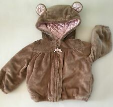 NWT GYMBOREE GIRL DETECTIVE FUZZY HOODED JACKET 18-24 MONTHS HOODIE BEAR EARS