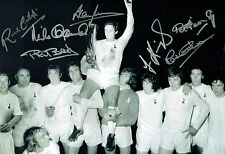 Spurs Multi Signed Autograph 16x12 1972 UEFA Cup Winning Squad Photo AFTAL COA