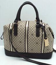 TOMMY HILFIGER Woman's Handbag *Khaki/Brown w/Gold *Bowler Satchel Purse New $85