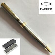 Perfect Parker Sonnet Series Silver Tartan Golden Clip Ballpoint Pen New In Box
