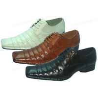 New Men's Dress Shoes Italian Style Casual Pleated Lace up Fashion Tapered Toe