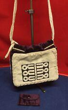Vintage Purple & Grey Velvet Art Deco Inspired Handbag Shoulder Bag Stunning