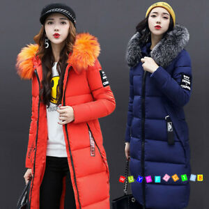 2021 Women Winter Jacket With Fur Hood Long Down Warm Parka quilted puffer Coat