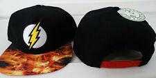 The Flash Logo Sublimated Bill Dc Comics Snap Back Hat Nwt