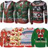 US Ugly Christmas Sweater Women Men Xmas Jumper Sweatshirt T-shirt Tops Hoodies