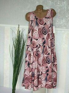Sommerkleid IBIZA ROSA BUNT Strandkleid Luftig Kleid 44 46 48 50  /307-58