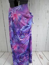 Women's Rave Swim Suit Wrap Stretch Material Multicolored In Purples-flowers A9