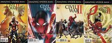 Civil War II AMAZING SPIDER-MAN (2016) comic Set #1 2 3 4 Marvel 1st print