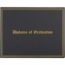 Diploma Of Graduation Certificate Holder Gold Foil Font Amp Satin Interior Black