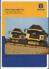"""New holland """"série cx"""" combiner brochure dépliant"""