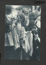 Nostalgia Postcard Young Girl Evacuees the  Channel Islands 1940