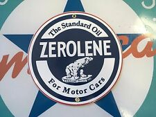 "classic ZEROLENE ""the standard oil"" - PORCELAIN COATED 18 gauge METAL SIGN"