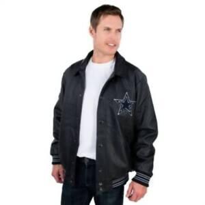 Dallas Cowboys Team PU Varsity Jacket By G-III - Black