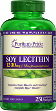 Puritan's Pride Soy Lecithin 1200 mg 250 Rapid Release Softgels