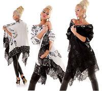cardigan giacca donna morbidissimo misto lana alto bordo pizzo fantasia floreale