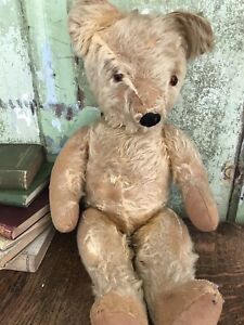Early VERY OLD Charming Teddy Bear Antique Vintage FULLY JOINTED