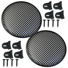 """Speaker Grill 10"""" Round shape metal 4 each includes 16 plastic clamps w hardware"""