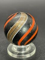 Handmade Red Banded Lutz Marble Rare Back Lit Opaque Banded Lutz Marble 0.866""