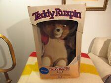 VINTAGE TEDDY RUXPIN WITH BOX 1985 1ST GENERATION MANUAL PLUSH STORYTELLING