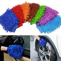 1Stk Easy Microfiber Car Kitchen Household Wash Washing Cleaning Glove Mit~