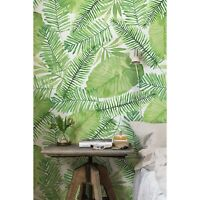Leafs Green Non-Woven wallpaper watercolor Traditional wall wall Home Mural