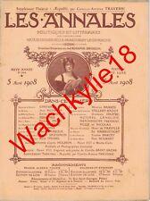 Les annales n°1293 du 05/04/1908 Cobaye Institut Pasteur Mormons Saint-Saëns