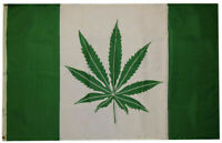 Canada Weed Marijuana 7 Point Flag Legalize 420 Green Banner Canadian Maple Leaf