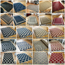 Flat weave Rug Kitchen hall Runner mat gel backing Anti Slip indoor Outdoor Rugs