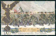 Militari Reggimentali 82º Reggimento Fanteria Col di Lana cartolina XF5544