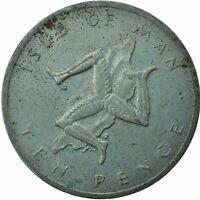 1978 ISLE OF MAN / 10 PENCE COIN QUEEN ELIZABETH II.  #WT22996