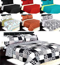 NENA BED BEDSPREAD QUILT COVERLETS SET EMBOSSED PINSONIC SOLID MODREN 4 SIZES