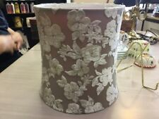 Lamp Shade W/Velveteen Floral Pattern-Taupe Background/Lighter Floral Pattern!