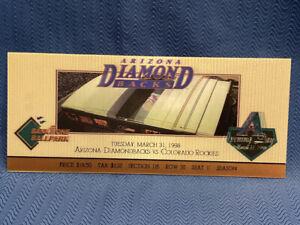 Arizona Diamondbacks Colorado Rockies Opening Day 3D Lenticular Ticket Hologram