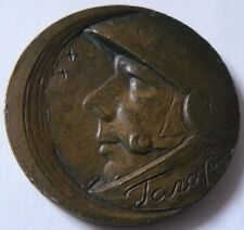 RUSSIAN BRONZE CCCP MEDAL OF GAGARIN'S 1961-1971 10TH ANNIVERSARY SPACE FLIGHT