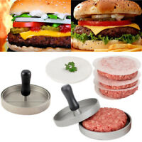 Hamburger Patty Maker Round  Meat Beef Grill Burger Press Mold Non-Stick Cooking